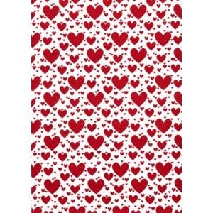 A4 Designer Textured 118gsm: Pop Hearts (Red)