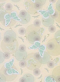 A4 Designer Metallic Paper 120gsm: Butterfly (Aqua)
