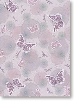 A4 Designer Metallic Paper 120gsm: Butterfly (Pink)