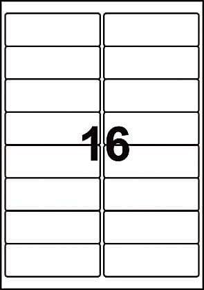 White Labels   16 per sheet