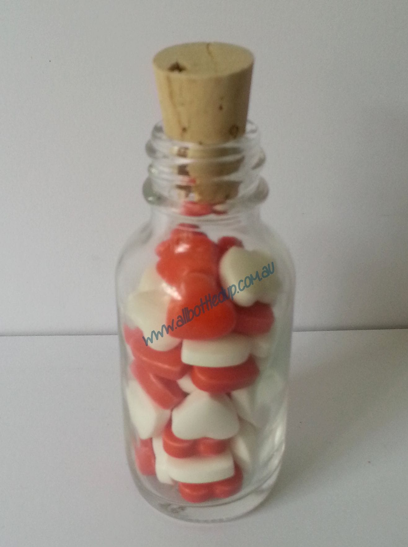 25ml Glass Lolly Bottle | Hearts