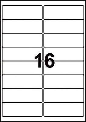 Clear Labels   16 per sheet