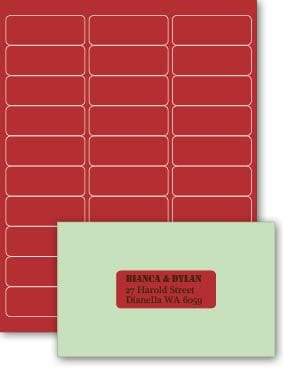 Rectangle   Eco Luxury Labels   Devil Red