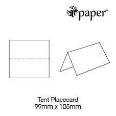 Tent Place Cards | Various Colours