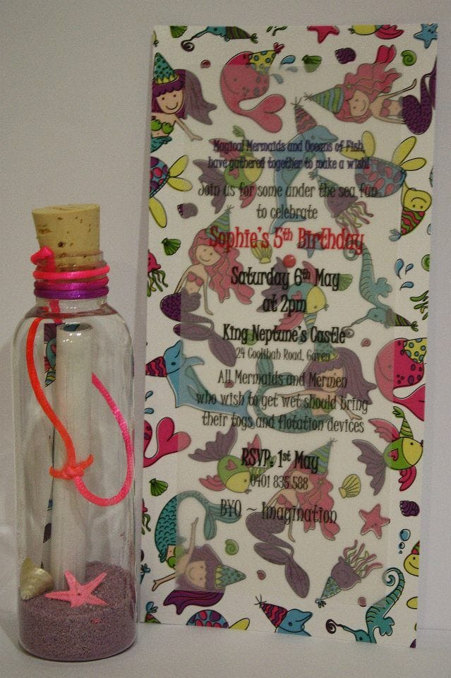 Invitation In A Bottle | Mermaid Party
