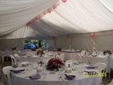 Marquee Reception with Floral Centrepieces