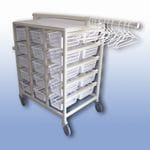 Compact Laundry Valet Trolley - Small Basket (x30)