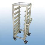 Single Bay 8 x Tray service trolley with recessed top