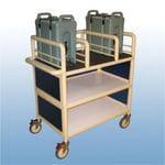 3 x Shelf enclosed double urn trolley
