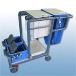 Cleaners Trolley Double Bucket