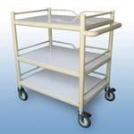 Multi-Purpose Trolley 3 x PVC shelf + 3 x Guard rails