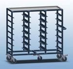 Triple Bay 21 x Tray service trolley with recessed top