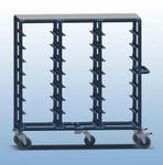 Triple Bay 24 x Tray service trolley with solid top