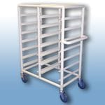 Double Bay 14 x Tray service trolley with open top