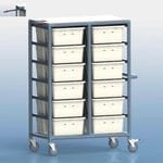 24 Tub Personal Linen Trolley