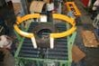 Rotacaster multi-directional conveyor wheels used on a tire lubricator to achieve easy and fluid maneuverability