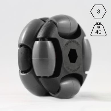 Rotacaster 48mm Double, Solid, 8 mm hex