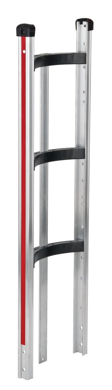Frame, Alum, Curved Back with cross braces and vertical strap,