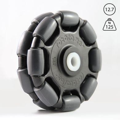 "Rotacaster 125mm Double, 85A polyurethane, 12.7mm(1/2"") nylon bushing"