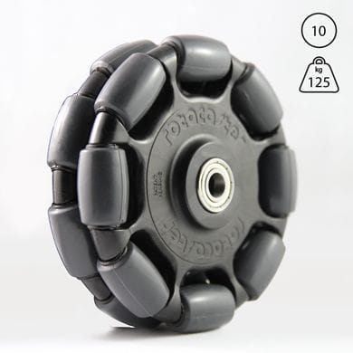 Rotacaster 125mm Double, 85A polyurethane, 10mm shielded bearing