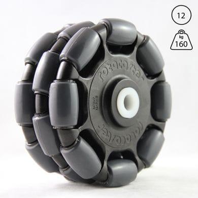 Rotacaster 125mm Triple, 85A polyurethane, 12mm Nylon bushing