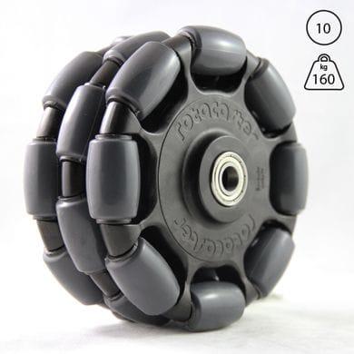 Rotacaster 125mm Triple, 85A polyurethane, 10mm shielded bearing