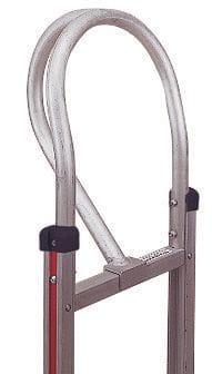 Handle, Alum, Vertical Loop for curved back frame with set back