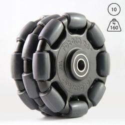 Rotacaster 125mm Triple, 95A polyurethane, 10mm sealed bearing