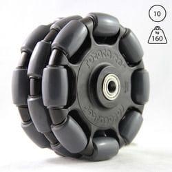 Rotacaster 125mm Triple, 95A polyurethane, 10mm shielded bearing