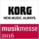5 April 2016: New KORG products release at MusicMesse 2016