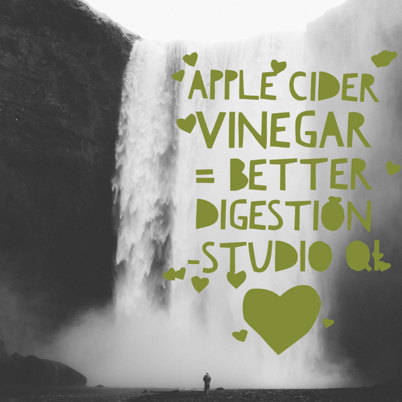 Apple Cider Vinegar = Better digestion