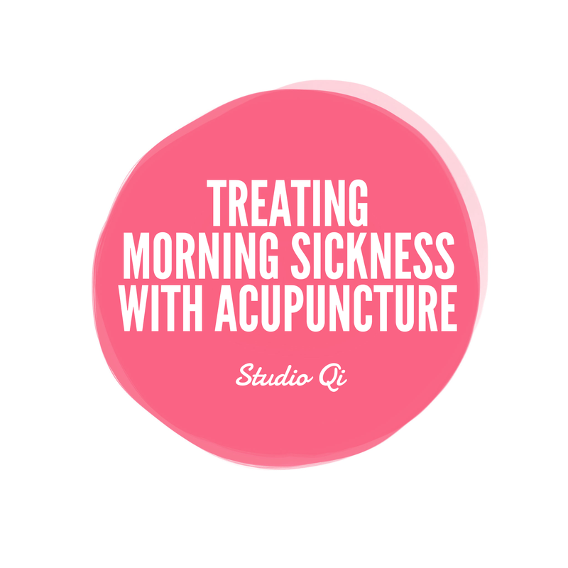 Treating morning sickness with acupuncture
