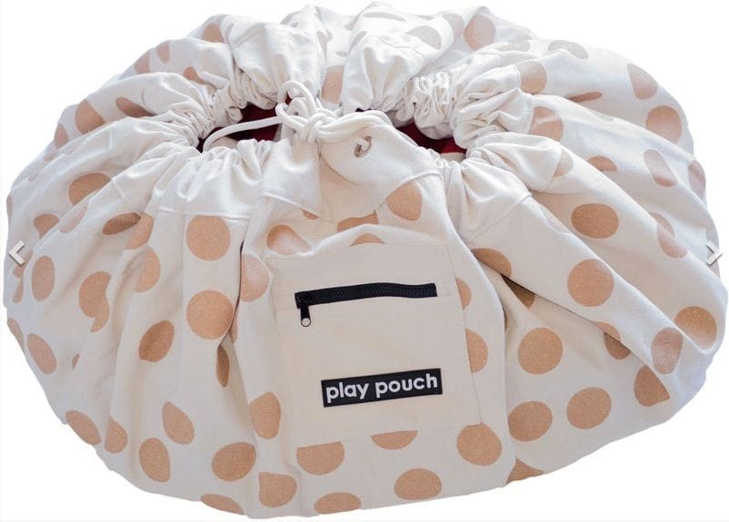 Play Pouch - Glitter Gold Dots