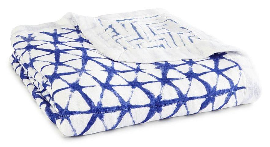 aden + anais - indigo silky soft dream blanket