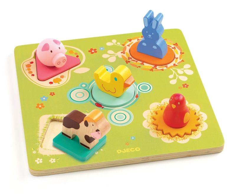 Djeco - 3D Wooden Puzzle - Bildi