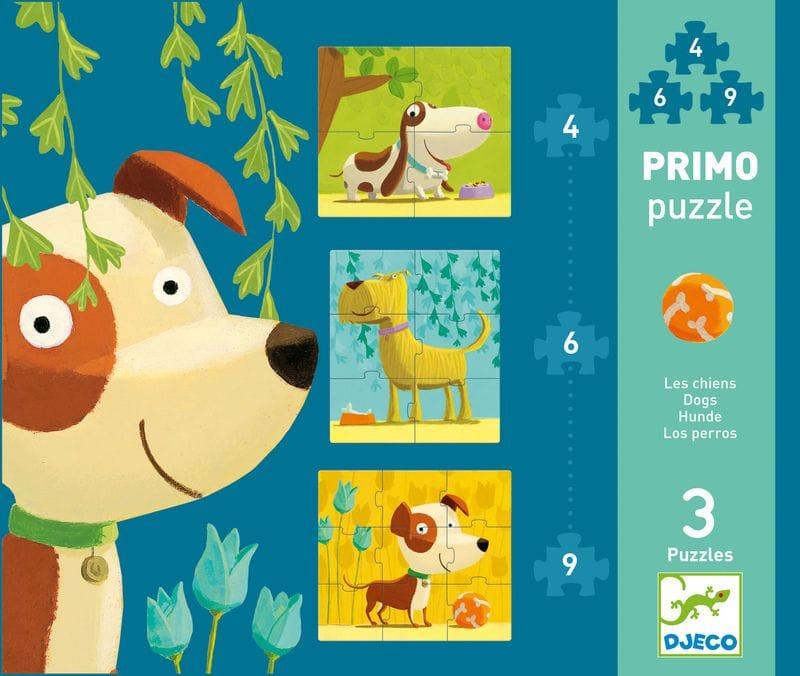 Djeco - Dogs First 19 piece Progressive Puzzle