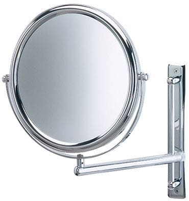 Wall mount magnifying mirror