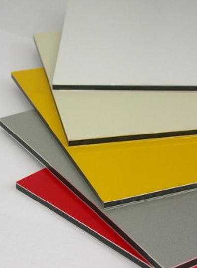 White Aluminum Composite Panel : A size aluminium composite panel mm white