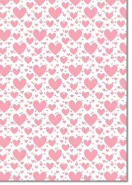 A4 Designer Textured 118gsm: Pop Hearts (Pink)