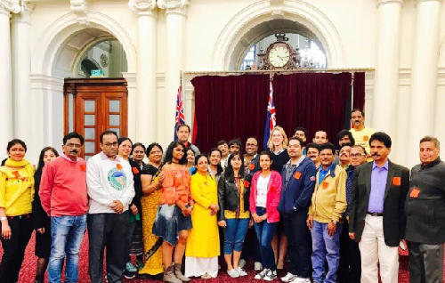 Visitors from India tour our Parliament