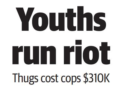 Youths run riot - HERALD SUN