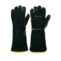 Black & Gold Welders Gauntlet Gloves