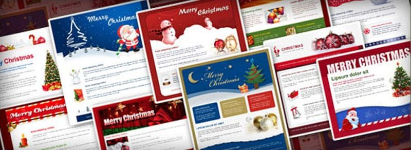 Your free Christmas email templates are ready