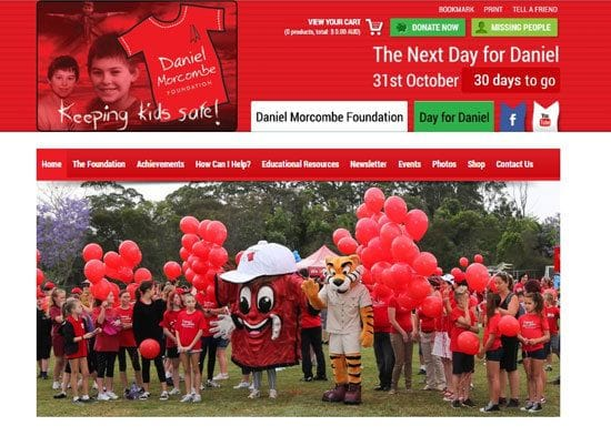 Supporting the Daniel Morcombe Foundation