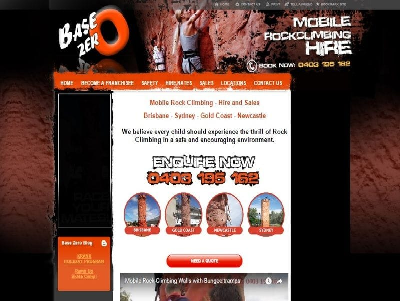 "Client Spotlight: Base Zero and their website that ""rocks!"""