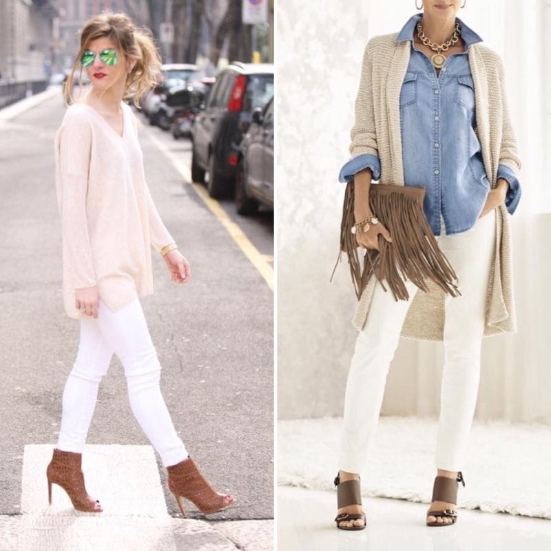 Can I wear white jeans in spring?