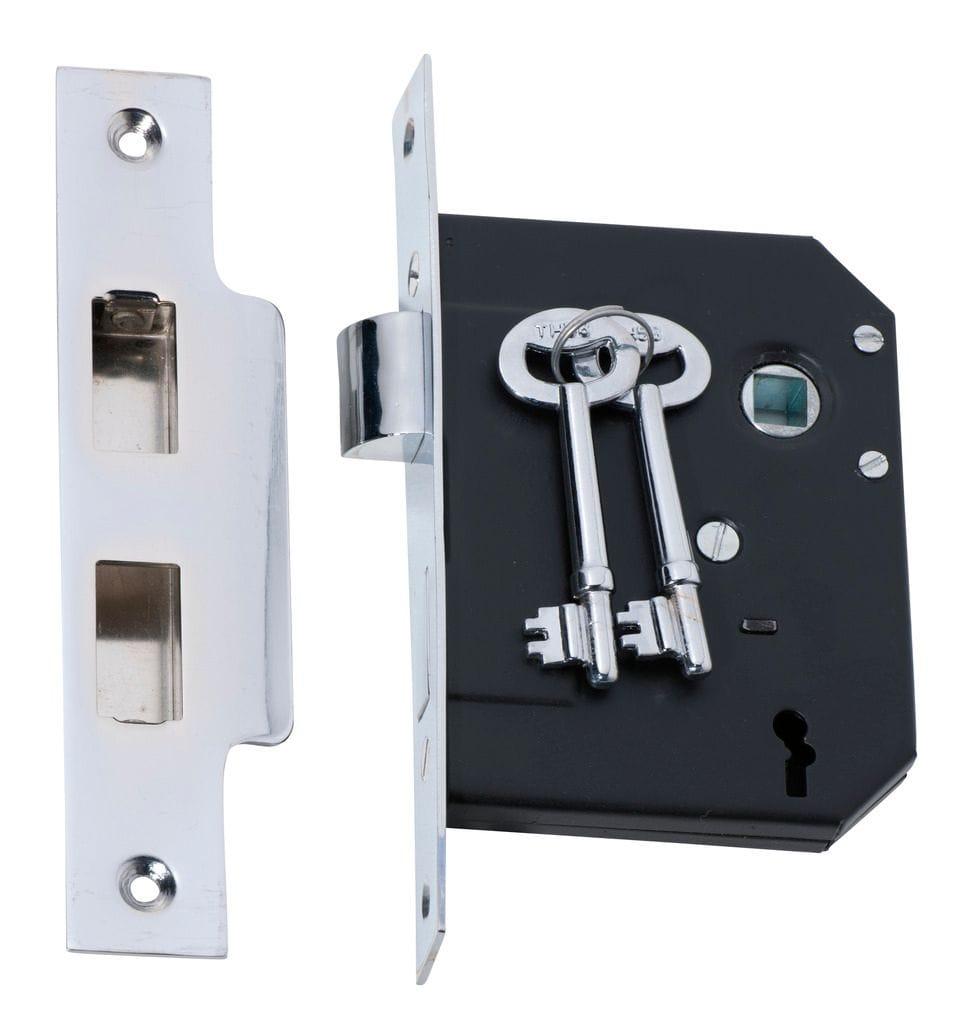 3 Lever Mortice Lock Chrome2211