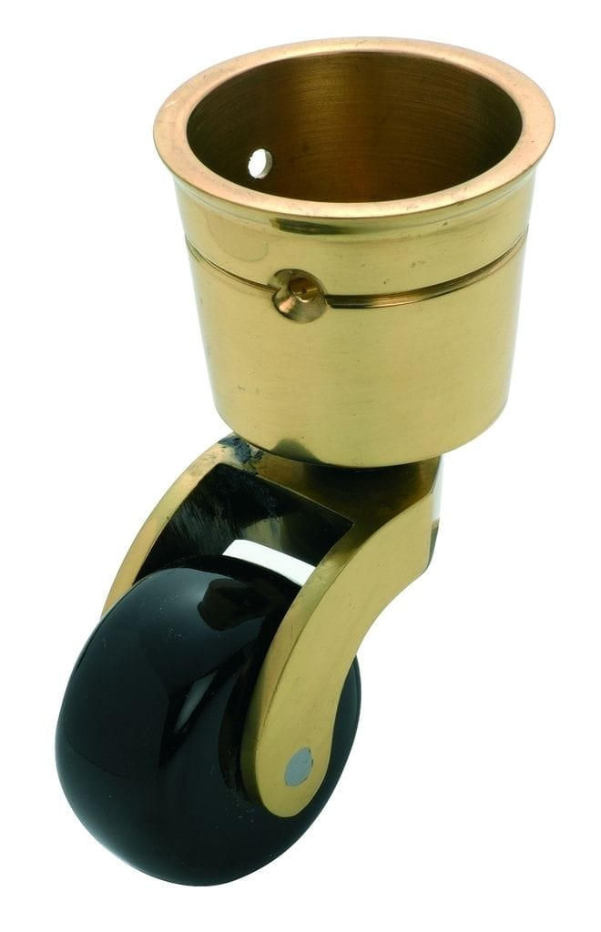 Cup Castor Brown Porcelain/Polished Brass 29mm3511