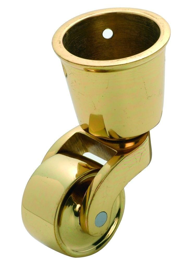 Cup Castor Polished Brass 32mm3530