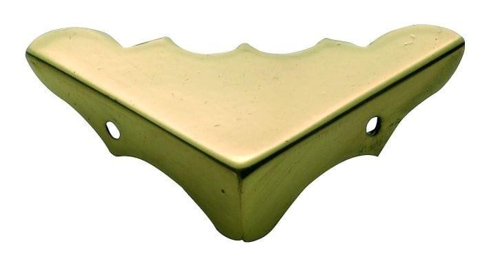 Medium Box Corner Polished Brass3862
